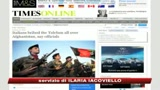 Kabul smentisce il Times: False le accuse all'Italia
