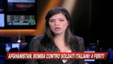Afghanistan, bomba contro gli italiani: quattro feriti