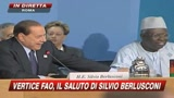 Fao, Berlusconi: 20miliardi per la lotta alla fame
