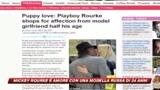 Sboccia l'amore tra Mickey Rourke e una modella russa