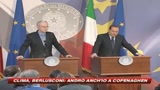 Clima, Berlusconi: Andrò anch'io a Copenaghen