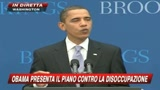 Obama presenta il piano contro la disoccupazione