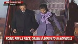 10/12/2009 - Obama sbarca a Oslo, tra applausi e contestazioni