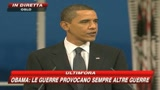 Obama:Dobbiamo trovare nuovi modi per una pace giusta