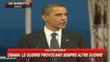 Obama:Dobbiamo trovare nuovi modi per una pace giusta