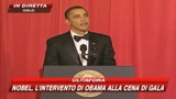 Nobel, l'intervento di Obama alla cena di gala