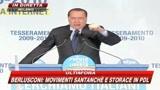 Berlusconi: si vergogni chi rende Italia piazza urlante