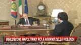 Napolitano: basta esasperazione politica pericolosa