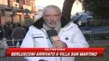 Berlusconi torna ad Arcore. LE IMMAGINI