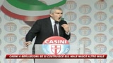 Monito di Casini a Berlusconi: Odio genera odio