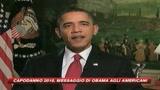 Capodanno 2010, il messaggio di Barack Obama