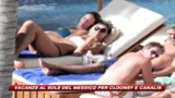 La coppia Clooney-Canalis inizia il 2010 in spiaggia