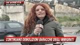 11/01/2010 - Rosarno, continua la demolizione della bidonville