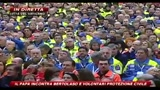06/03/2010 - Il papa incontra Bertolaso e i volontari della Protezione Civile