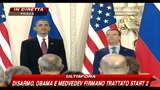 08/04/2010 - Disarmo, Obama e Medvedev firmano trattato Start 2