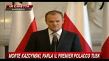 10/04/2010 - Morte Kazcynski, parla il Premier polacco Tusk