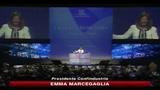 Emma Marcegaglia risponde all'intervento di Silvio Berluscon: l'Italia arretra da dieci anni