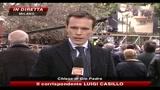Funerali Vianello, Berlusconi consola Sandra Mondaini