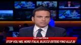 Nube di cenere, nord Italia aereoporti chiusi fino alle 20
