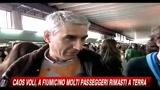 Caos voli, a Fiumicino molti passeggeri rimasti a terra