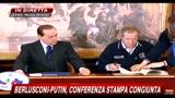 Firme accordi Berlusconi-Putin