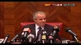 Conferenza dimissioni Scajola
