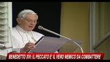 16/05/2010 - Benedetto XVI, il peccato  il vero nemico da combattere