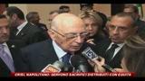 25/05/2010 - Crisi, Napolitano da Washington: Servono sacrifici distribuiti con equità