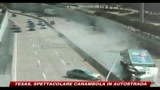 Texas, spettacolare carambola in autostrada