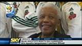 Nelson Mandela incontra la nazionale sudafricana