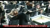 Musica, Riccardo Muti in concerto al Gran Teatro di Pompei