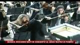 Musica, Riccardo Muti in concerto al Gran Teatro di Pompei