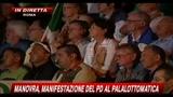 Manifestazione Pd su manovra, estratto parole di Bersani