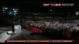 2 Manifestazione PD, il discorso di Bersani