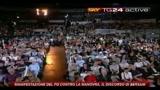 1 Manifestazione PD, il discorso di Bersani