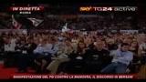 9 Manifestazione PD, il discorso di Bersani