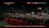 8 Manifestazione PD, il discorso di Bersani