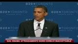 28/06/2010 - G20, Obama- Atteggiamento Nord Corea è inaccettabile