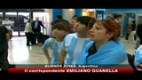 Argentina, festa all'aeroporto nonostante l'eliminazione