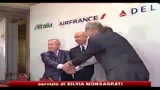 Alitalia, joint venture con Air France-Klm e Delta Airlines