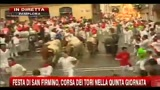 Festa di San Firmino, corsa dei tori nella quinta giornata