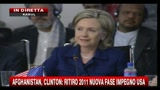 Afghanistan, Clinton: Ritiro 2011 nuova fase impegno Usa