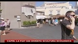 21/07/2010 - Capri, la Fiat 500 diventa scultura ecologica