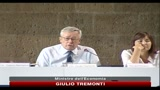 23/07/2010 - Tremonti: la sanit nel Mezzogiorno deve essere efficiente come al Nord