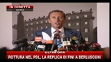 30/07/2010 - Rottura nel Pdl, la replica di Fini a Berlusconi