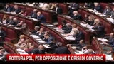 Rottura PDL, per opposizione  crisi di governo
