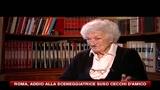 31/07/2010 - Roma, addio alla sceneggiatrice Suso Cecchi D'Amico