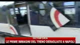 Le prime immagini del treno deragliato a Napoli