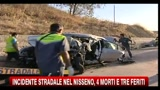 Incidente stradale nel Nisseno, 4 morti e tre feriti