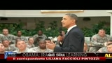 31/08/2010 - Ritiro Iraq, Obama incontra e ringrazia le truppe americane